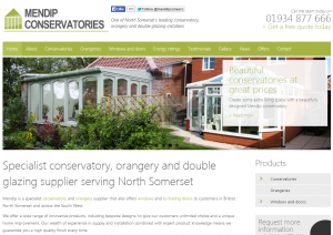 Mendip conservatories new double glazing website