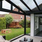 Grey Reverse Lean To Aluminium Conservatory Bristol